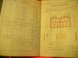 Libretto delle misure a firma Luis TrenkerCasa Via Diaz (1924)