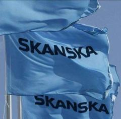 Light-blue-Skanska-flags