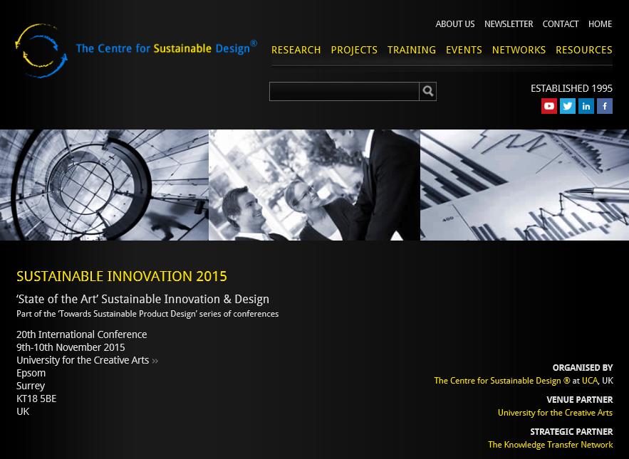 Sustainable Innovation 2015.