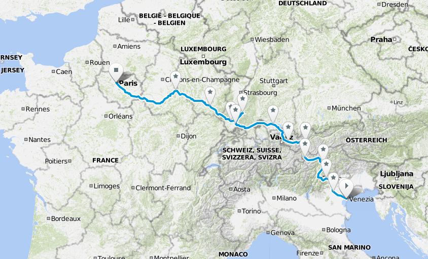 Ride With Us 2. Venezia-Parigi in bici per ilclima.